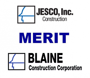 JESCO, Blaine Construction, MERIT Electrical logos