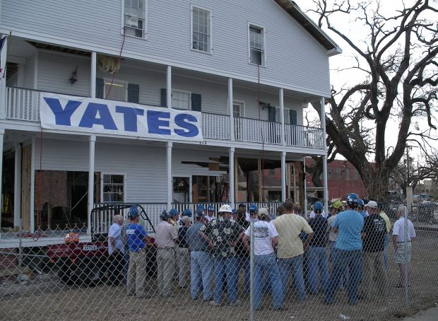 Yates Biloxi, MS office following the destruction of Hurricane Katrina